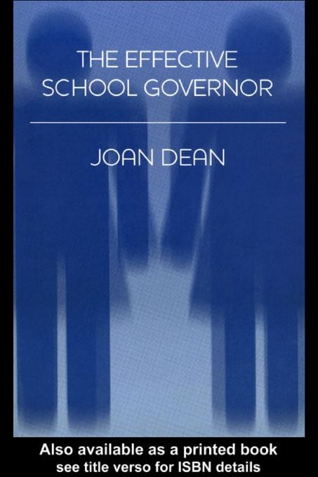The Effective School Governor EB9780203176764