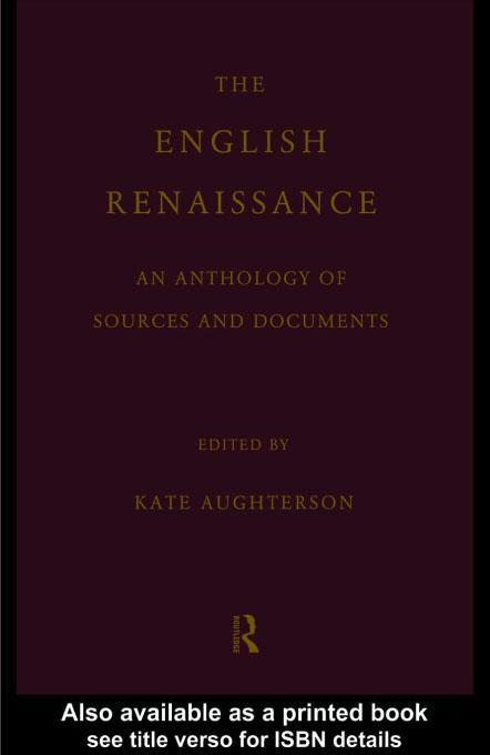 The English Renaissance EB9780203173824
