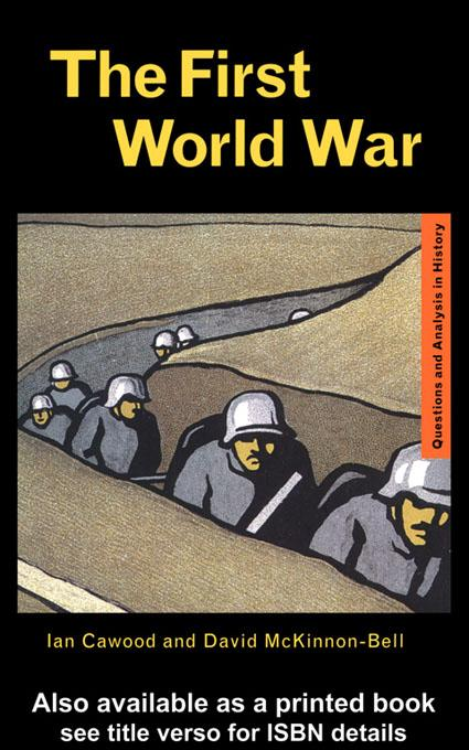 The First World War EB9780203136942