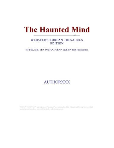 The Haunted Mind (Webster's Korean Thesaurus Edition) EB9780546393941