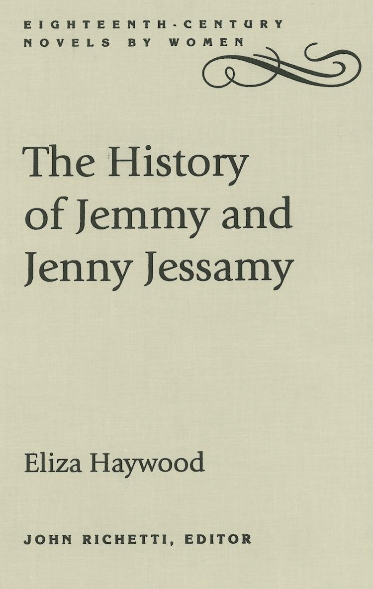 The History of Jemmy and Jenny Jessamy EB9780813171876