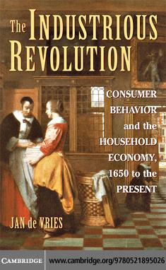 The Industrious Revolution EB9780511406140