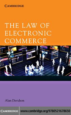 The Law of Electronic Commerce EB9780511687150