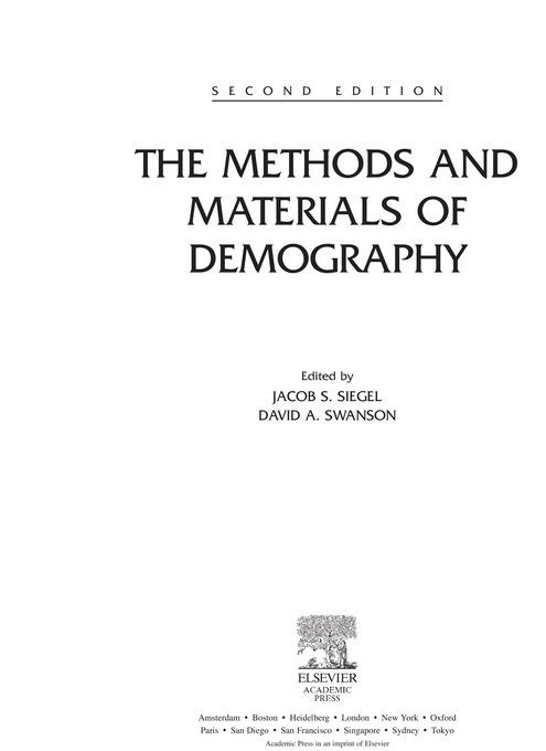 The Methods and Materials of Demography EB9780080473444