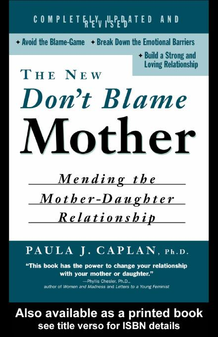 The New Don't Blame Mother EB9780203901991