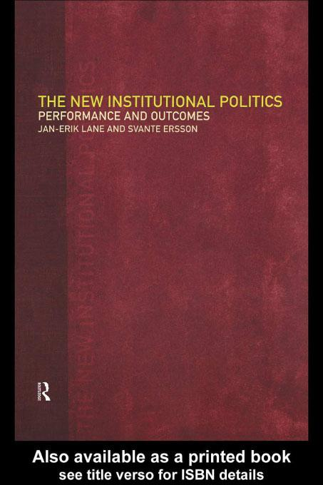 The New Institutional Politics EB9780203224663