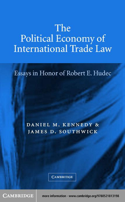 The Political Economy of International Trade Law EB9780511058400