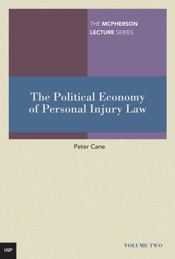 The Political Economy of Personal Injury Law EB9780702241604