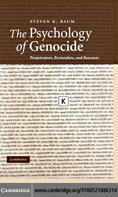 The Psychology of Genocide EB9780511406423