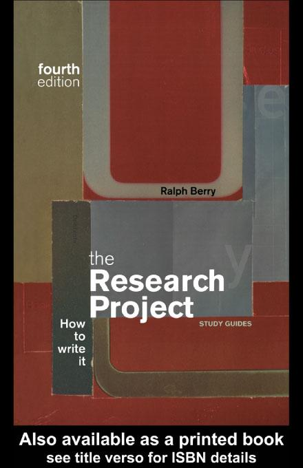 The Research Project EB9780203176658