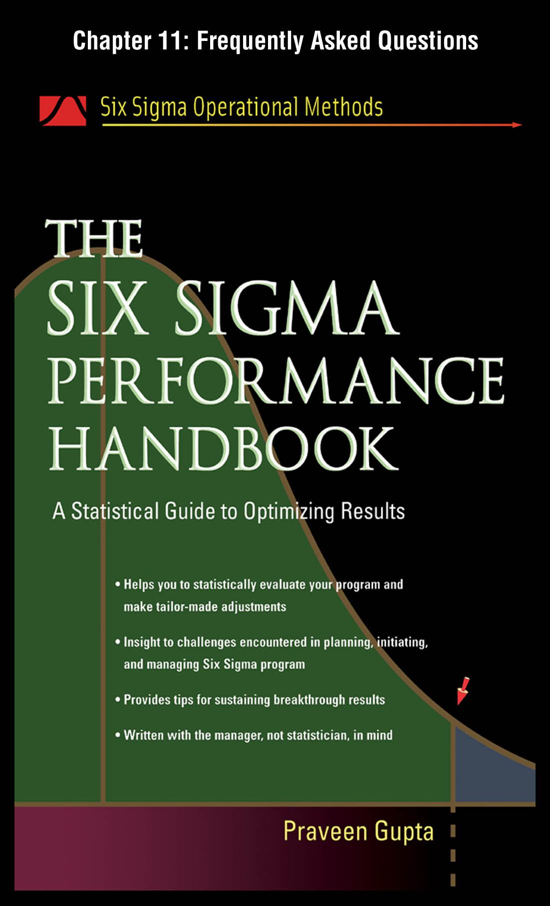 The Six Sigma Performance Handbook: FAQ EB9780071735353