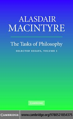 The Tasks of Philosophy EB9780511166679