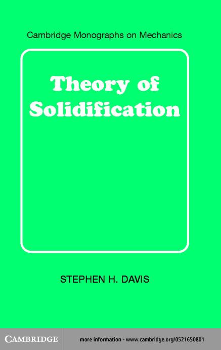 Theory of Solidification EB9780511036965