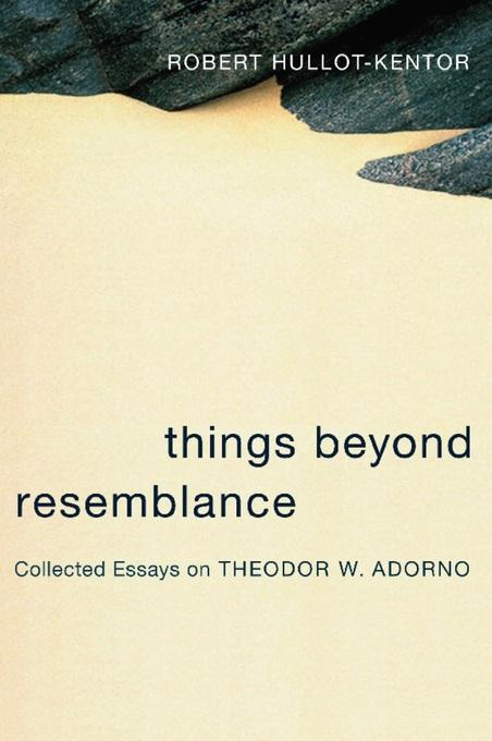 Things Beyond Resemblance: Collected Essays on Theodor W. Adorno EB9780231510035