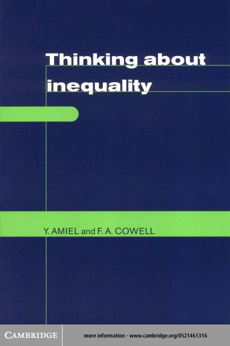 Thinking about Inequality EB9780511037696