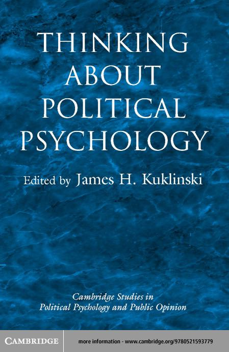 Thinking about Political Psychology EB9780511059612