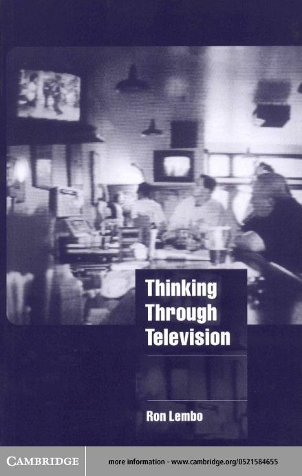 Thinking through Television EB9780511038891