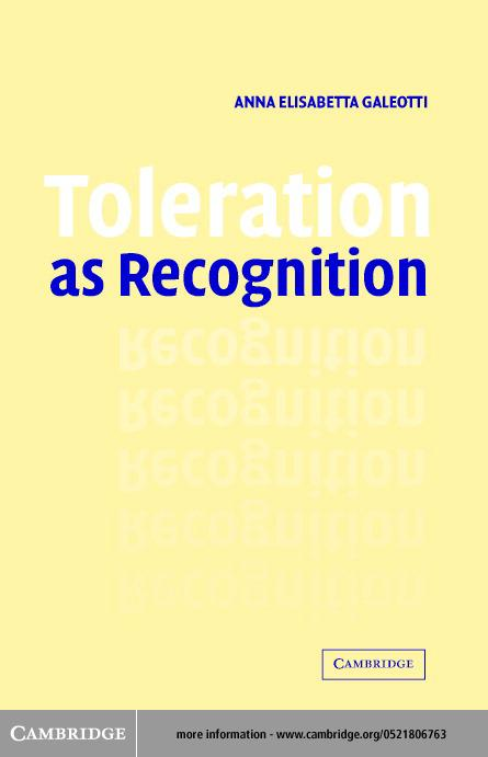 Toleration as Recognition EB9780511029028