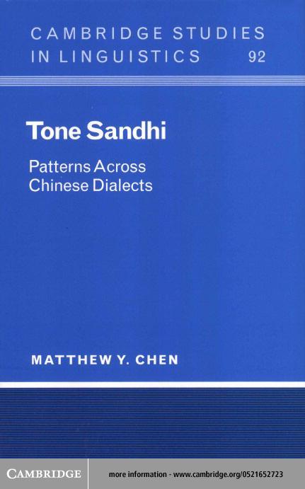 Tone Sandhi EB9780511033070