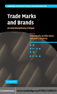 Trade Marks and Brands EB9780511406294