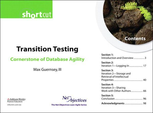 Transition Testing: Cornerstone of Database Agility (Short Cut) EB9780132702614