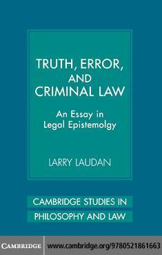 Truth, Error, and Criminal Law EB9780511223204