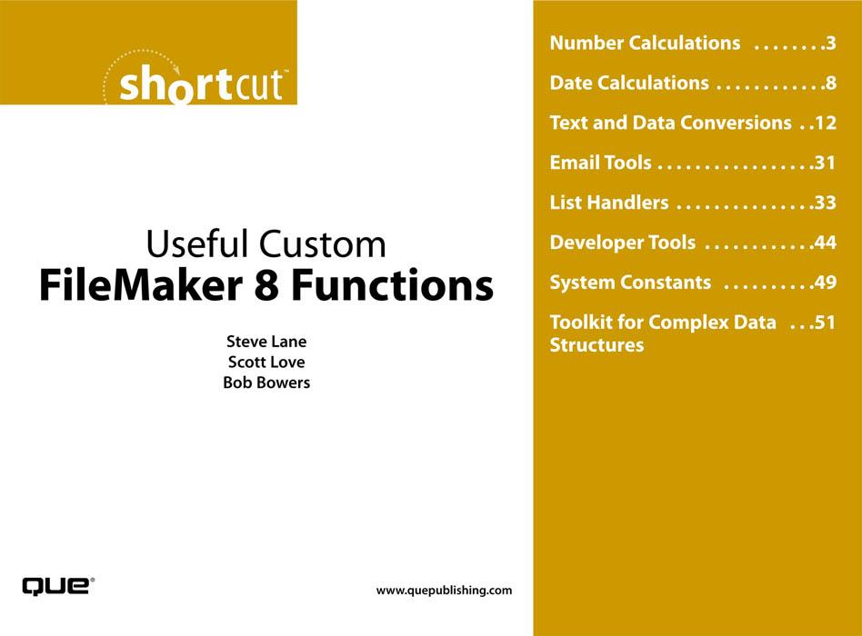 Useful Custom FileMaker 8 Functions EB9780768668353