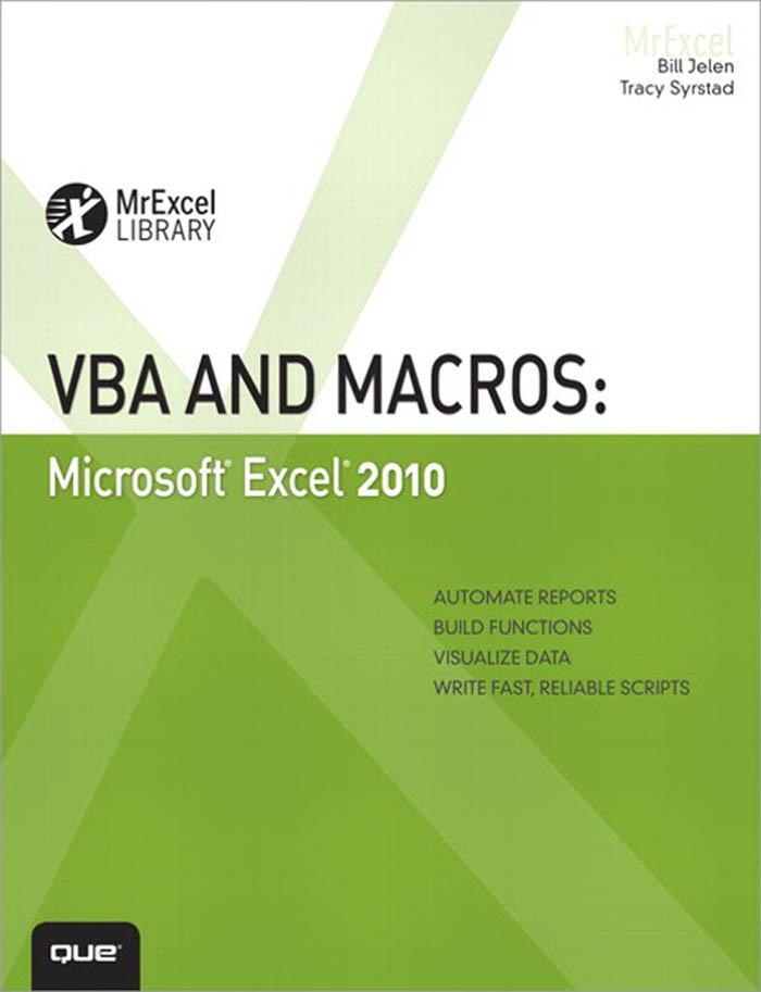 VBA and Macros: Microsoft Excel 2010 EB9780789743688
