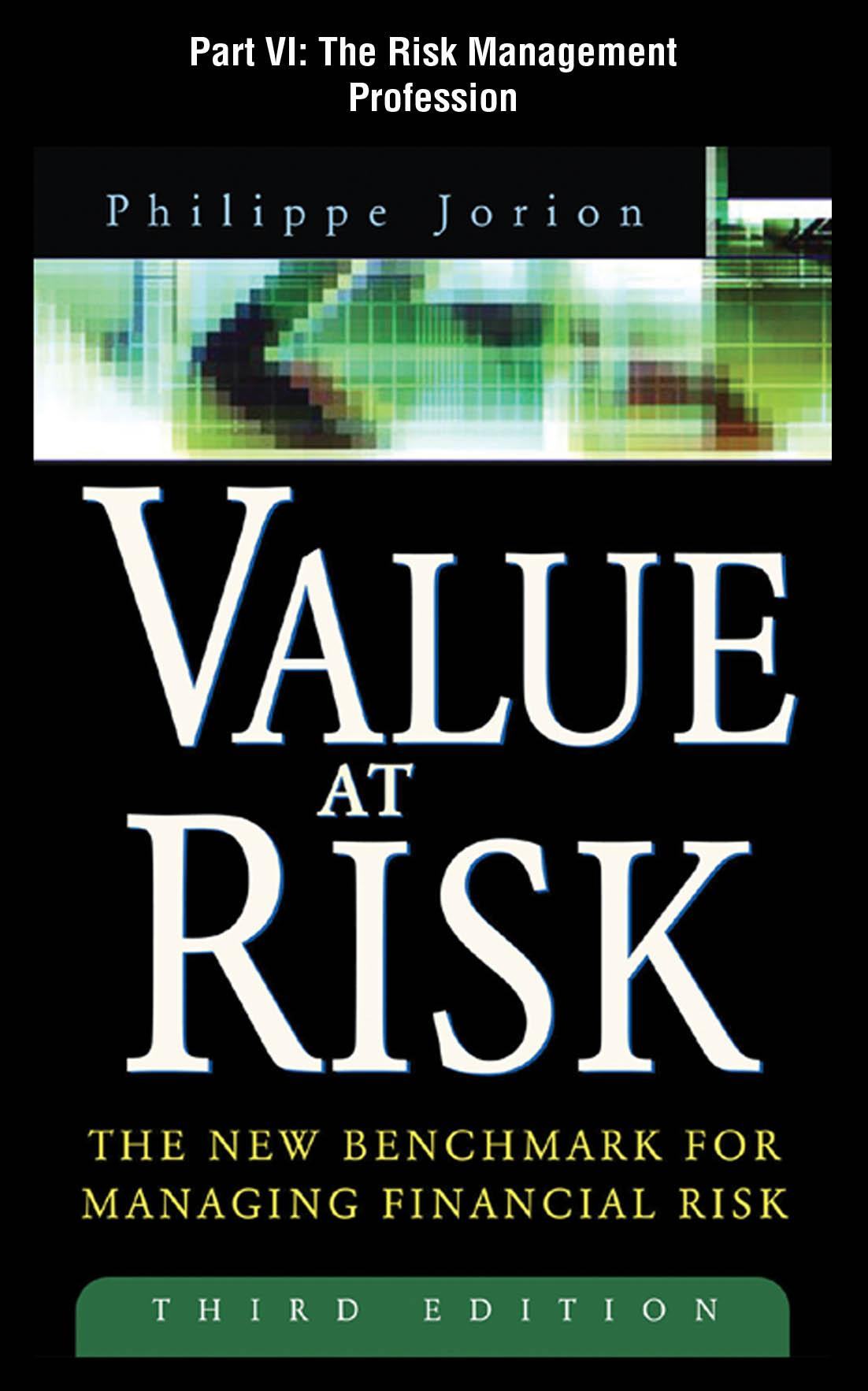 Value at Risk, 3rd Ed.: The Risk Management Profession EB9780071731638