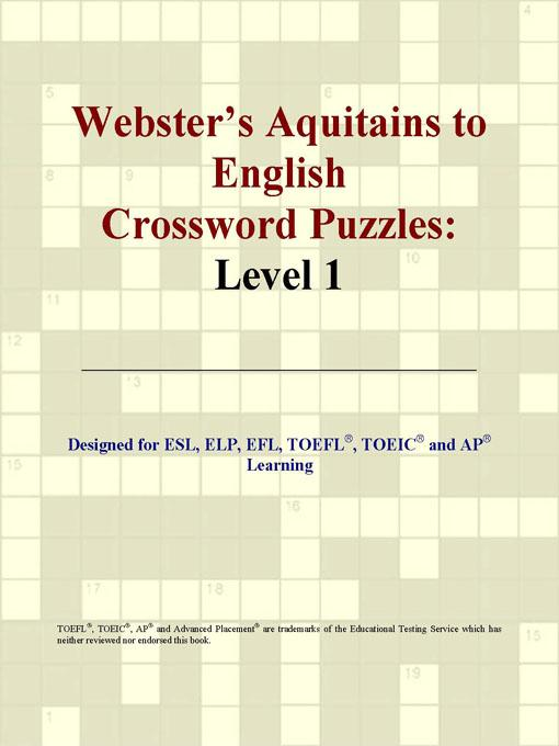 Webster's Aquitains to English Crossword Puzzles: Level 1 EB9780497824921