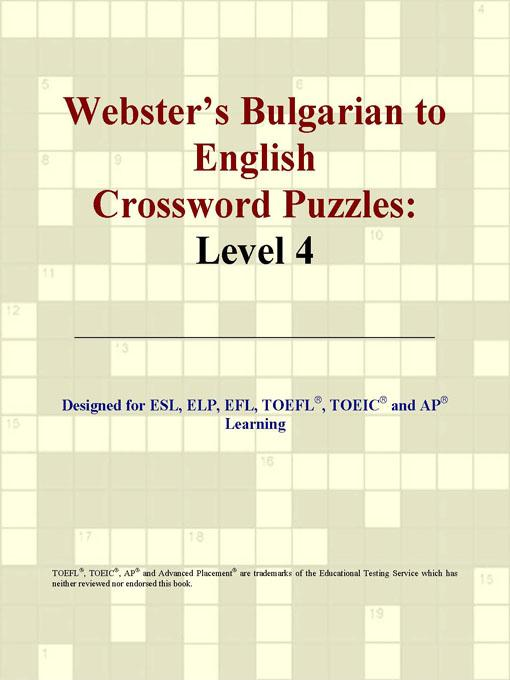 Webster's Bulgarian to English Crossword Puzzles: Level 4 EB9780497825805