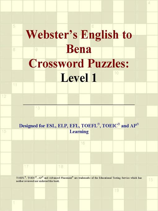Webster's English to Bena Crossword Puzzles: Level 1 EB9780497825263