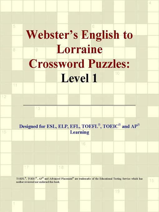 Webster's English to Lorraine Crossword Puzzles: Level 1 EB9780497829407