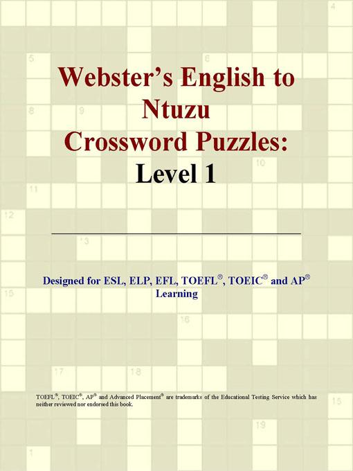 Webster's English to Ntuzu Crossword Puzzles: Level 1 EB9780497830755