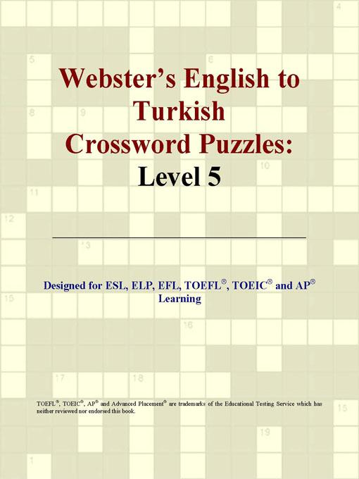 Webster's English to Turkish Crossword Puzzles: Level 5 EB9780497833428