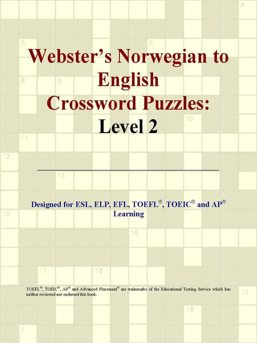 Webster's Norwegian to English Crossword Puzzles: Level 2