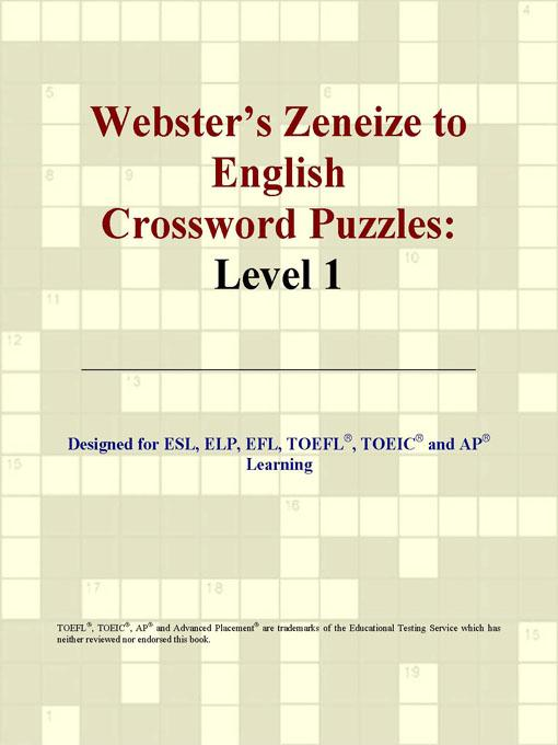 Webster's Zeneize to English Crossword Puzzles: Level 1 EB9780497834111