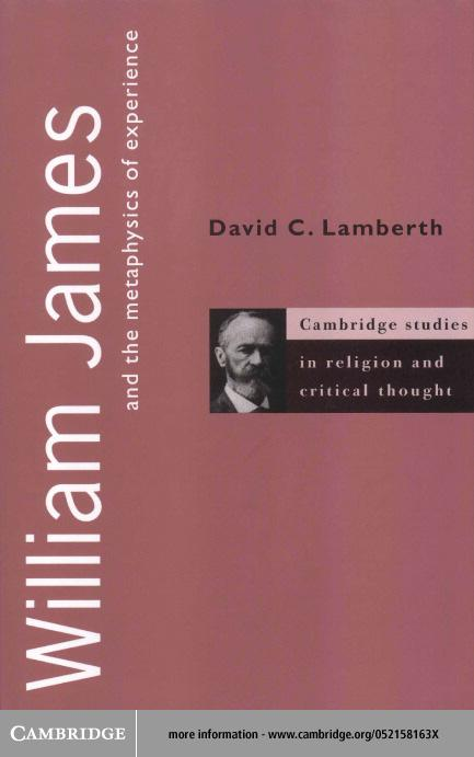 William James and the Metaphysics of Experience EB9780511038693