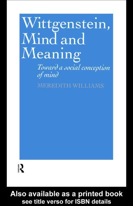 Wittgenstein, Mind and Meaning EB9780203217085