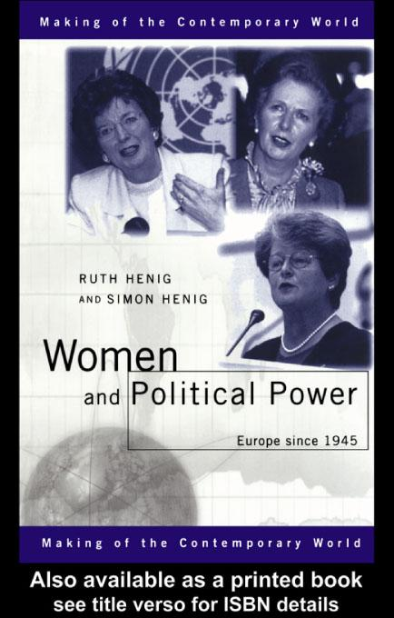 Women and Political Power EB9780203134269