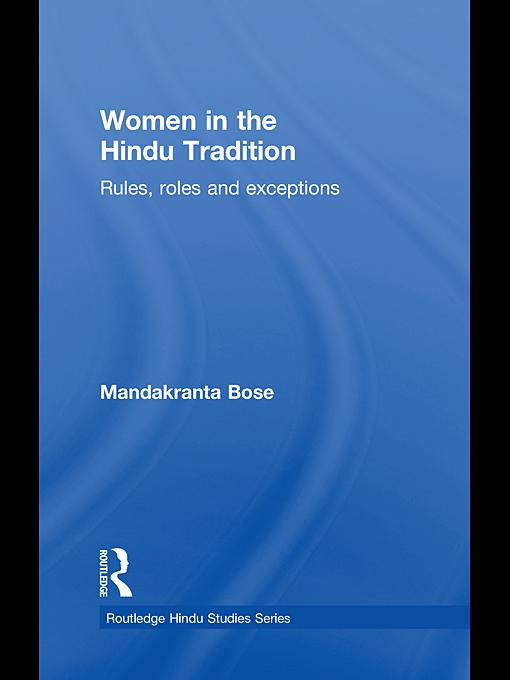 Women in the Hindu Tradition EB9780203864197