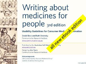 Writing about medicines for people EB9780646465807