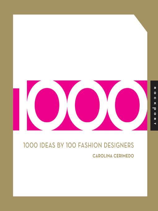 1000 Ideas by 100 Fashion Designers EB9781616738686