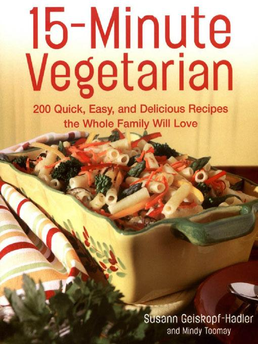 15-Minute Vegetarian Recipes EB9781610580861