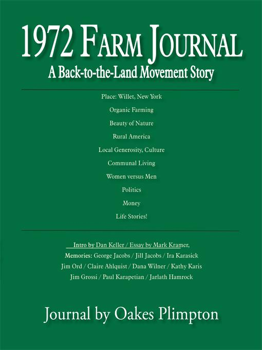 1972 Farm Journal: A Back-to-the-Land Movement Story EB9781450261913