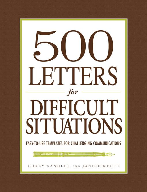 500 Letters for Difficult Situations EB9781440507847