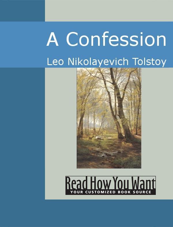 A Confession EB9781442940567
