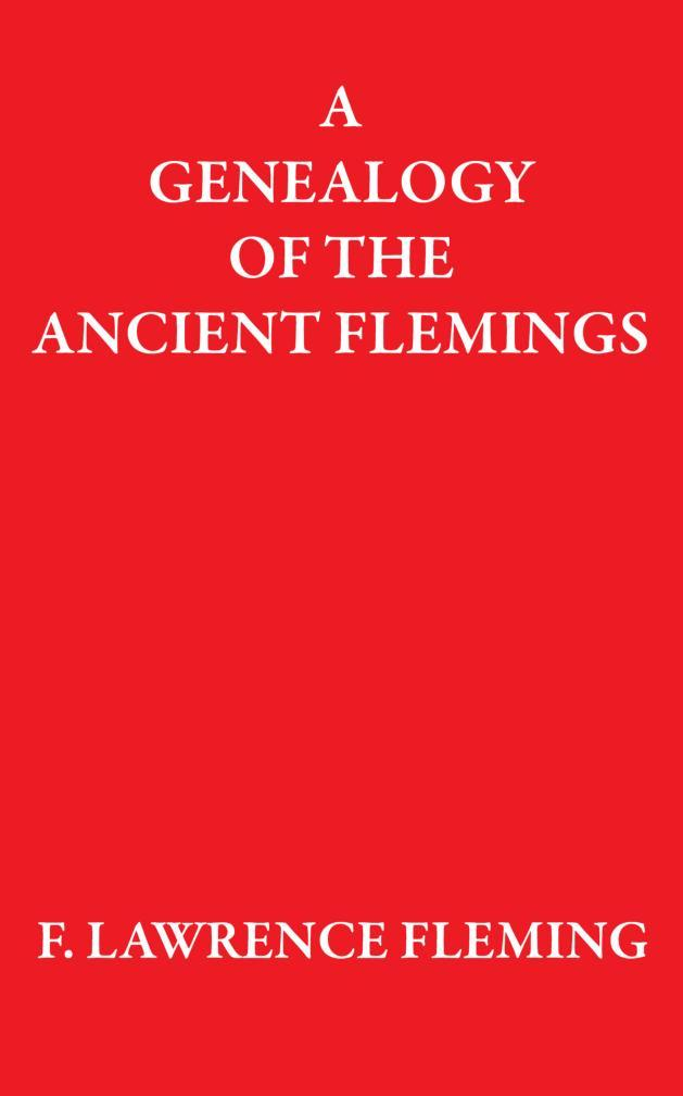 A Genealogy of the Ancient Flemings EB9781907611391