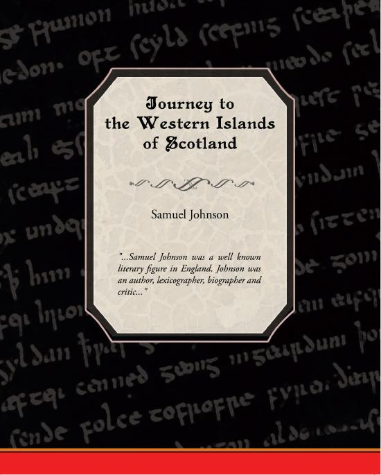 A Journey to the Western Isles of Scotland EB9781438549309