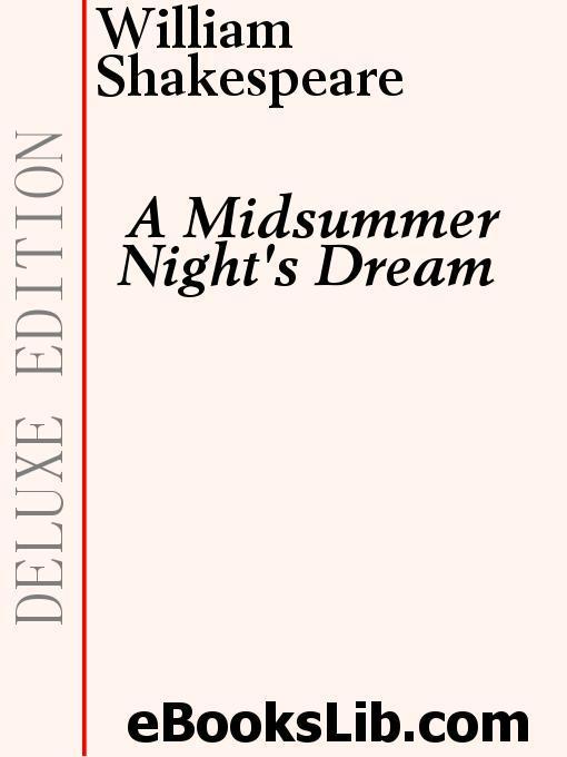 A Midsummer Night's Dream EB9781554451005
